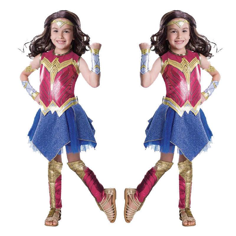 Kind Dawn Van Justice Wonder Vrouw Fancy Dress Cosplay Meisjes Superman Wonder Woman Supergirl Halloween Kostuum Voor Kinderen