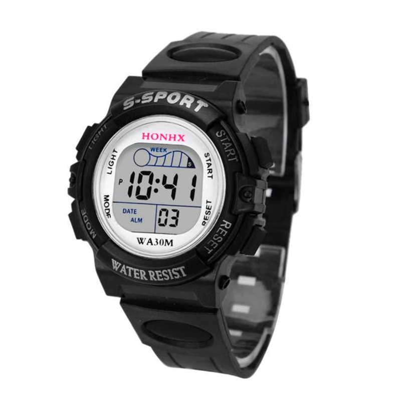 763a5ca41 2018 Hot Sale Waterproof Children Watch Boys Girls LED Digital Sports  Watches Silicone Rubber Kids Alarm