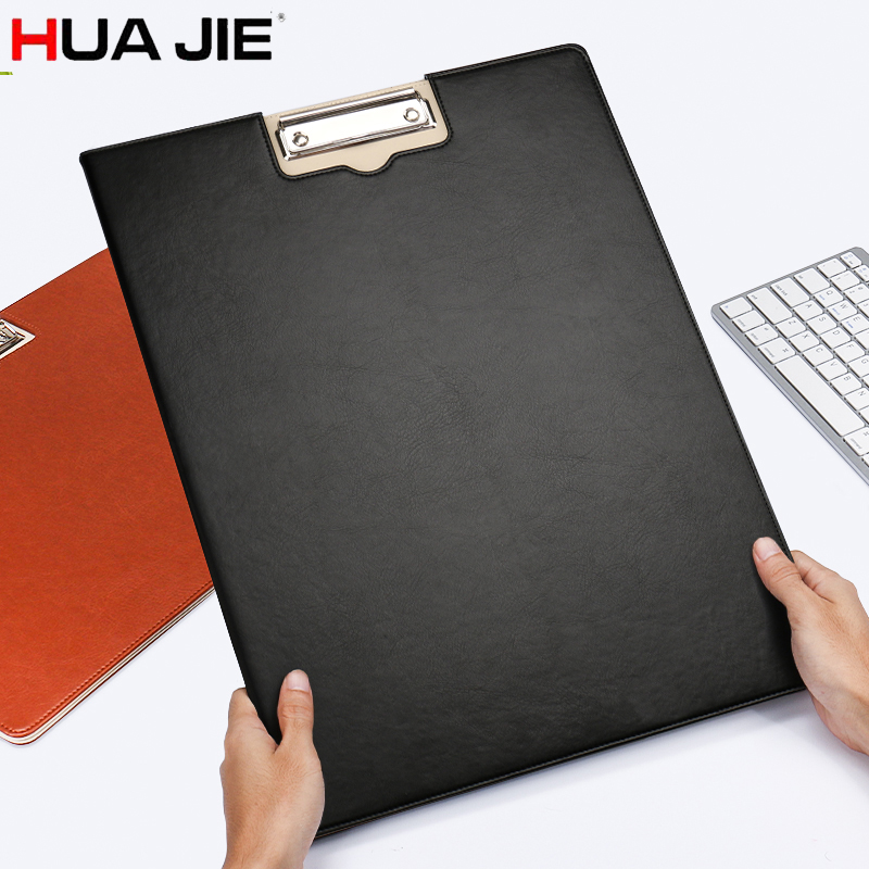 HUA JIE A3 Foldover Clip File Folder Conference/Meeting Writing Pad Clipboard Hard Board Foolscap Padfolio Document Organizer hua jie a4 clipboard document portfolio pen slot magnetic conference folders restaurant menu note boards hospital file notepads