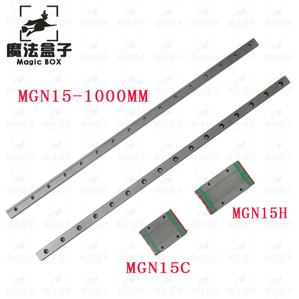 3d printer parts 15mm Linear Guide MGN15 1000mm linear rail way MGN15H or MGNH15C Long linear carriage for CNC X Y Z Axis mgn15 miniature linear rail 3pcs mgn15 900mm rail 3pcs mgn15c mgn15h carriage for x y z axies 3d printer parts