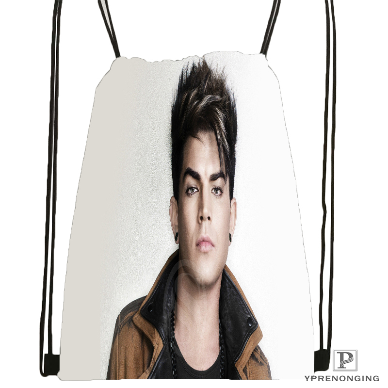 Custom Adam Lambert Drawstring Backpack Bag Cute Daypack Kids Satchel (Black Back) 31x40cm#180531-04-04