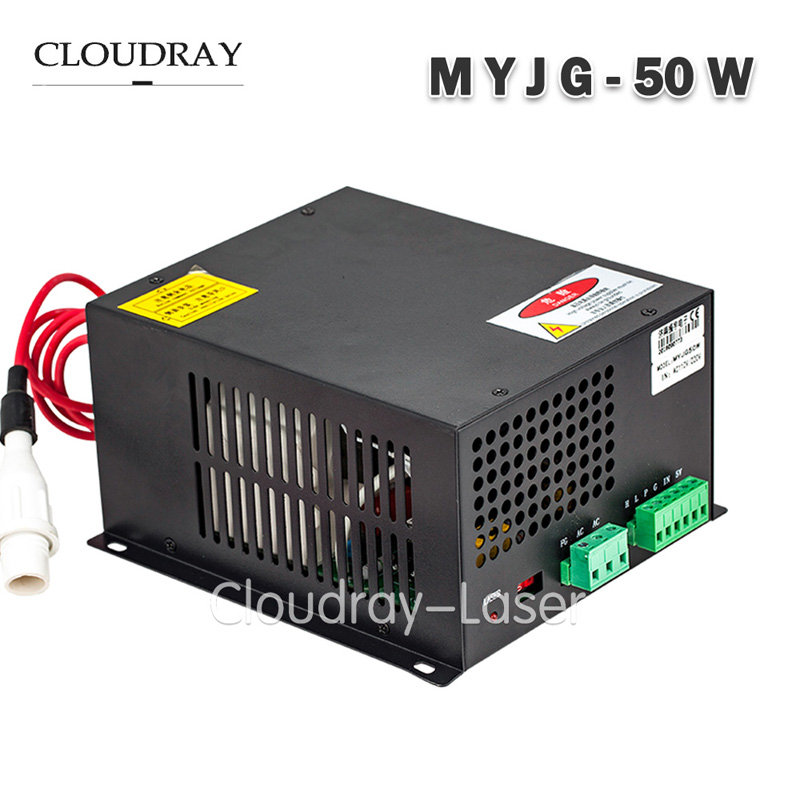 Cloudray 50W Co2 Laser Power Supply 47-440HZ AC220V/AC110V For CO2 Laser Engraving Cutting Machine CE Certificate MYJG-50W 50w co2 laser power supply for co2 laser engraving cutting machine myjg 50w