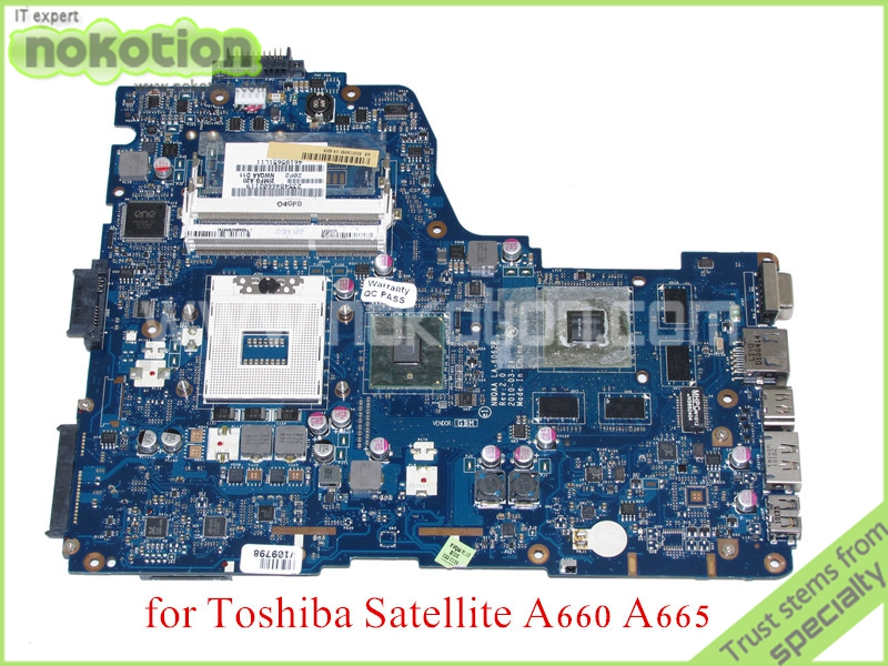 NOKOTION NWQAA LA-6062P Rev 2.0 MB K000104390 For toshiba satellite A660 A665 Laptop motherboard GeForce GT330M nwqaa la 6062p rev 2 0 mb k000104390 for toshiba satellite a660 a665 laptop motherboard geforce gt330m