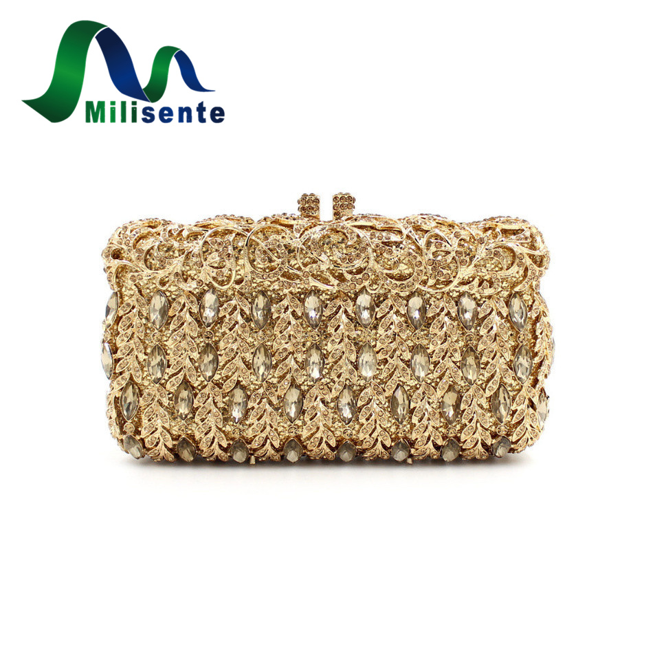 New Women Luxury Crystal Clutch Evening Bag Party Handbag Wedding Purse Banquet Free Drop Shipping Gold natassie new design luxury crystal clutch women evening bag gold red ladies wedding banquet party purses good quality