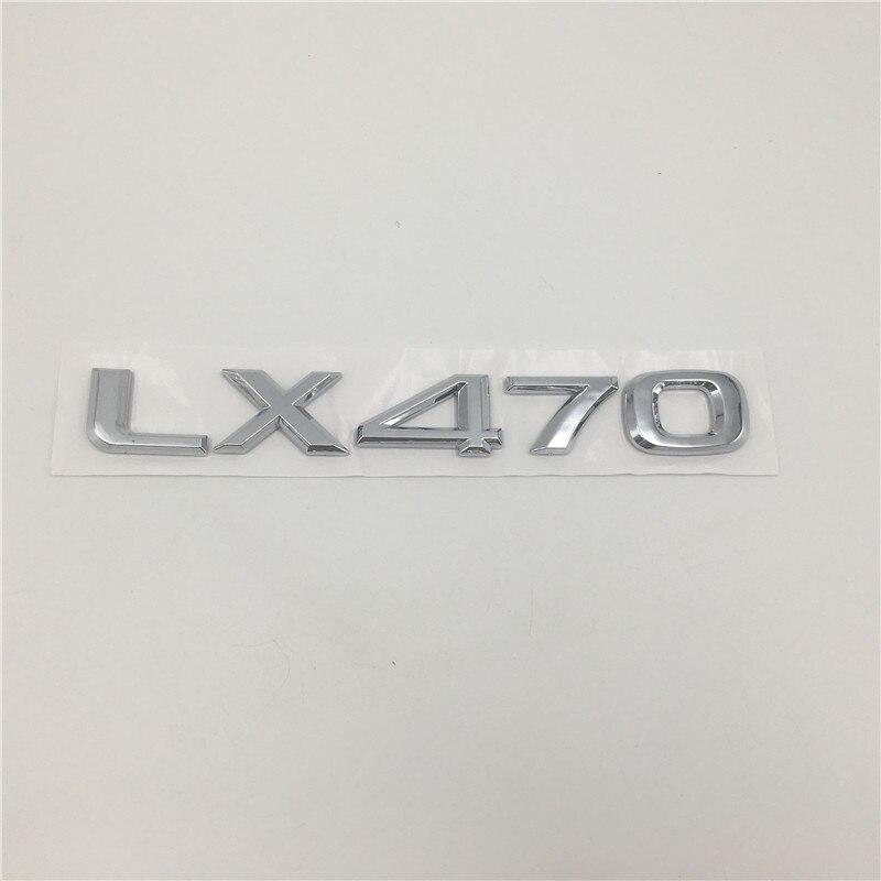 Image 3 - Автомобильные 3d наклейки для Lexus LX470 LX570 Black Edition S эмблема задний хвост скрипт LX 470 570-in Наклейки на автомобиль from Автомобили и мотоциклы