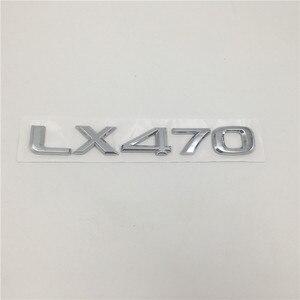 Image 3 - Auto 3d Aufkleber Für Lexus LX470 LX570 Black Edition S Emblem Hinten Zurück Schwanz Skript LX 470 570