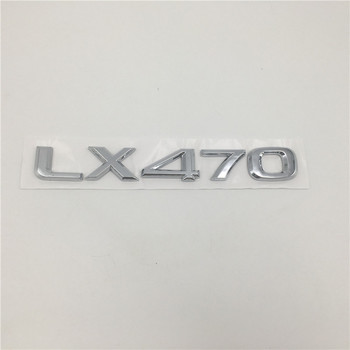 Mobil 3D Stiker untuk Lexus LX470 LX570 Black Edition S Emblem Belakang Ekor Script LX 470 570