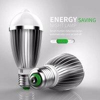 Led PIR Infrared Sensor Motion Light Bulb E27 E26 B22 E17 5W 7W 9W Auto Smart