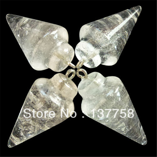 4pcs beautiful pendulum rock crystal pendant bead j0034782 in 4pcs beautiful pendulum rock crystal pendant bead j0034782 mozeypictures Image collections
