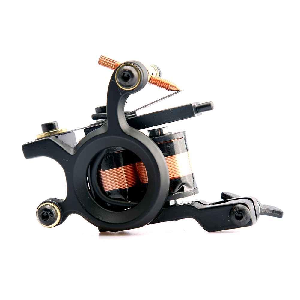 High Quality Coil Tattoo Machine 10 Warp Coil Light Weight Tattoo Guns For Shader&Liner Free Shipping 1 Pcs/lot