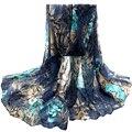 Bom Negócio de Moda de Nova Mulheres Flor Lenços Voile Roubou Long Neck Wraps Xaile Lenço No Pescoço Lenço de Presente 1 PC