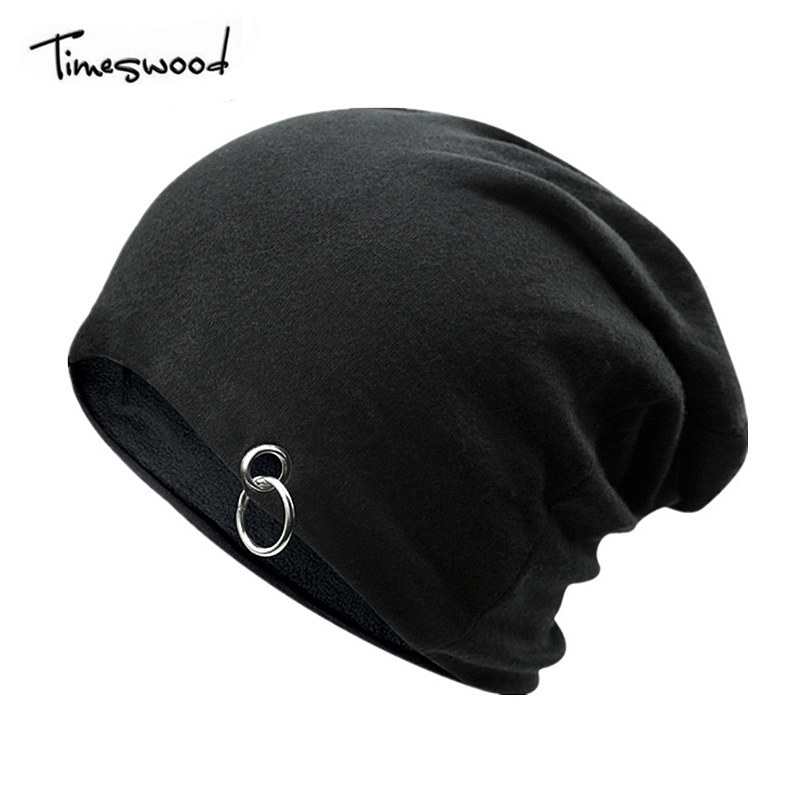 TIMESWOOD Unisex New Ring Caps Warm Beanie Punk Hat Gorras Winter Knitting Hip Hop Caps Beanies Knitted Cap Hats For Men Women new winter beanies solid color hat unisex warm grid outdoor beanie knitted cap hats knitted gorro caps for men women