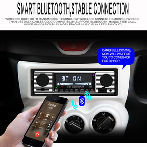Image 4 - Car USB FM retro radio classic auto radio player Bluetooth Stereo Vehicle avtagnitola retro car radio bluetooth MP3 Player