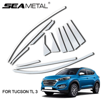Car Window Mouldings For Hyundai Tucson TL 3 2018 2017 2016 2015 Automobile Car Windows Strips Door Auto Accessories Car styling