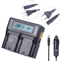 1pcs NP F960 NP F970 NP F750 Ultra Fast 3X Faster Dual Digital Charger For Sony