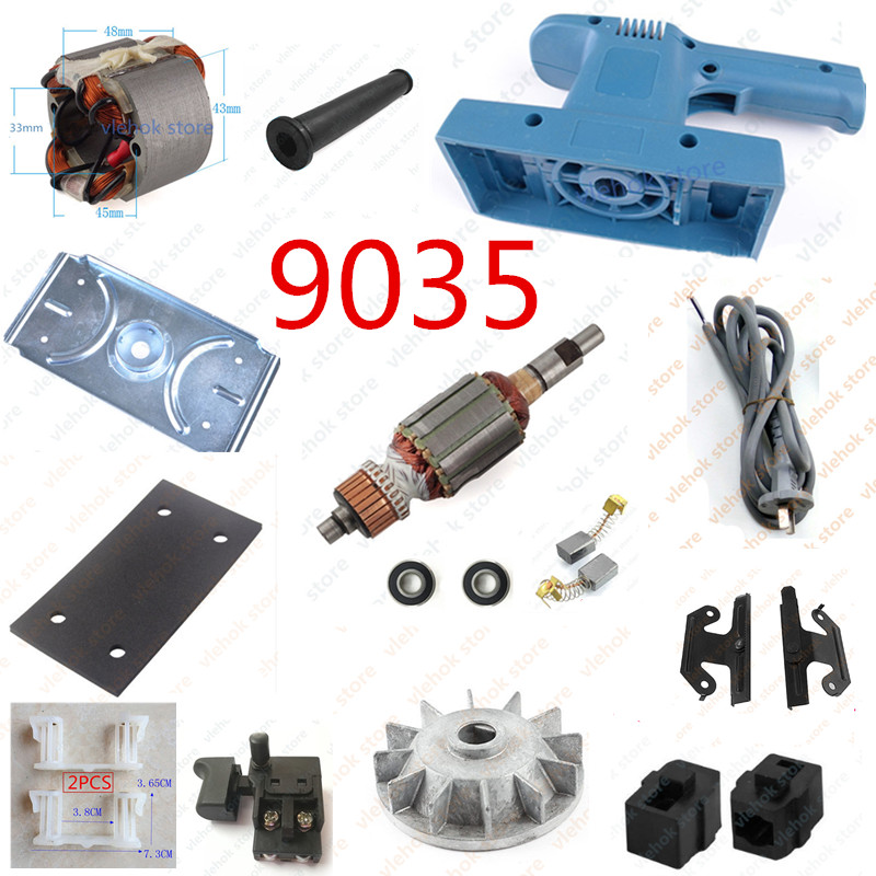 Replacement For MAKITA 9035 ALL Power Tool Accessories Electric Tools Armature Rotor Stator Field Switch Carbon Brush Holder