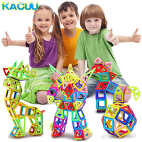 KACUU 100 180PCS Mini Magnetic Designer Constructor Set Model & Building Magnetic Blocks Educational Toys For Kids Gifts