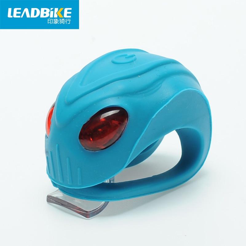 Leadbike Mini Flash fiets achterlicht 3-modus siliconen met twee - Wielersport