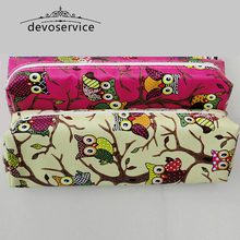 Kawaii Owl PU Leather Pencil Case For Girls Boys Stationery Storage Organizer Pen Bag Material Escolar Office Supplies Kids Gift
