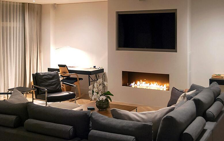 30 Inch Silver Or Black Real Fire Wifi  Intelligent Auto Ethanol Burner Fireplace