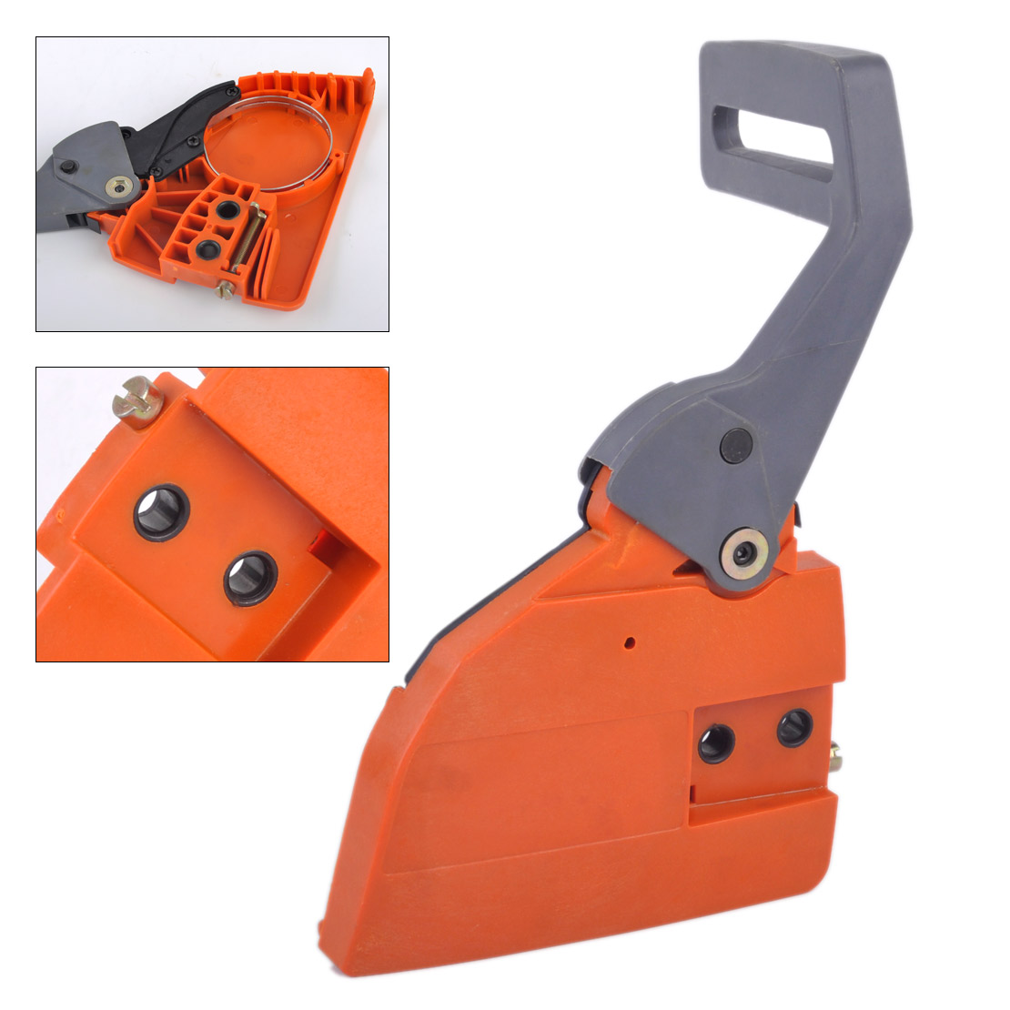 LETAOSK New Clutch Sprocket Chain Cover Brake Handle Assy Fit For HUSQVARNA 136 137 141 142 Chainsaw