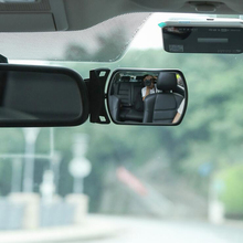 2pcs Car Blind Spot Mirror Children Back Seat Baby 360 Adjustable Automotor Kids Monitor Safety Rearview mirror