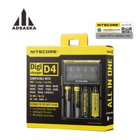 NITECORE original D4 Digicharger LCD Display Universal Charger Fit 18650 14500 16340 26650 18350 with Charging Cable