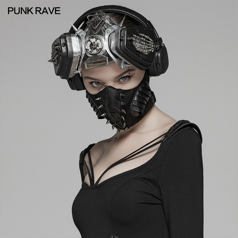 Punk Rave Brand New Gothic Steampunk Rock Unisex stylish Rivet Dark Mask WS300