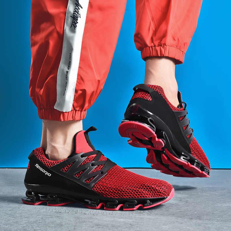 Zapatos masculinos adultos Rojo Negro gris cómodo antideslizante suave malla hombres zapatos transpirables hombres zapatillas Zapatillas de correr tamaño 36-48