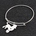 No Fade Silver Poodle DIY Openning Bracelet Bangle Femme Pulseras Mujer Pet/Dog Bracelets & Bangles for Women/Men Jewelry
