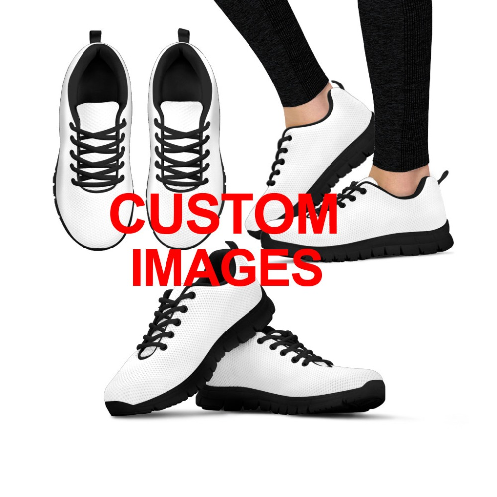 INSTANTARTS Women Running Shoes Outdoor Sports Shoes Cute Cartoon Custom Sneakers Female Ladies Mesh Walking Shoes