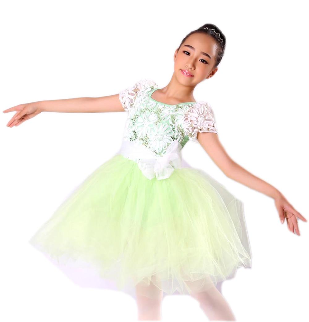 Կանաչ ժանյակ Cute Girls Բալետի զգեստ - Կարնավալային հագուստները