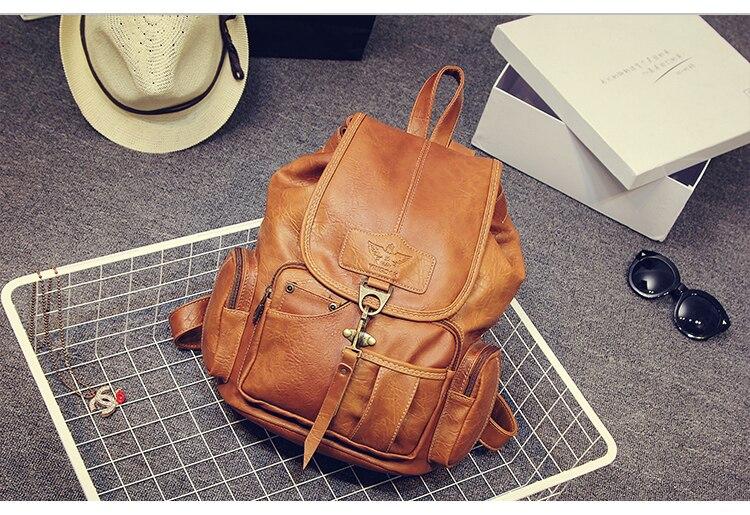 HTB1DrzeiHsrBKNjSZFpq6AXhFXak High Quality Women Backpack Vintage Backpacks For Teenage Girls Fashion Large School Bags PU Leather Black Mochila Feminina
