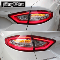 BINGWINS Car Styling Tail Light Case For Ford Fusion Taillights 2013 2016 LED Tail Lamp Rear