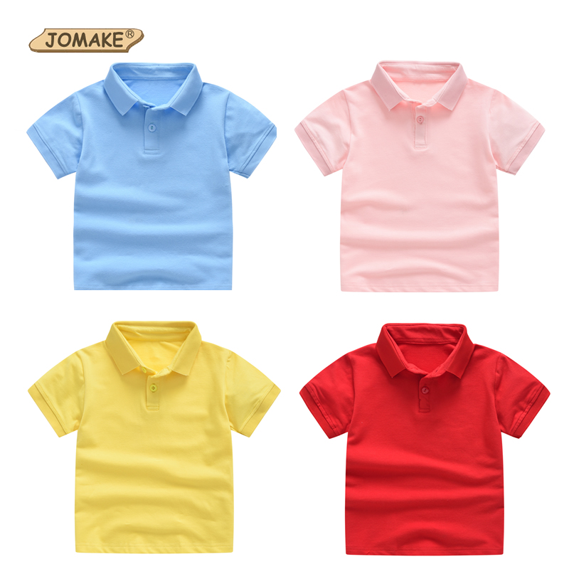 ce3a145f8 JOMAKE Boy Polo Shirt Children's Short Sleeve T shirt Girls Summer Wear Polo  Shirts Children Clothes Kids Tops Cotton T Shirts-in T-Shirts from Mother  ...