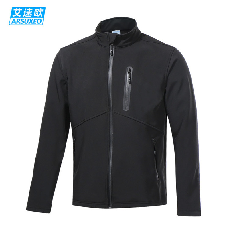 цена ARSUXEO Men's Cycling Jacket Winter Thermal Fleece Warm Up MTB Bike Jacket Wind Bicycle Clothing Windproof Running Sports Coat онлайн в 2017 году
