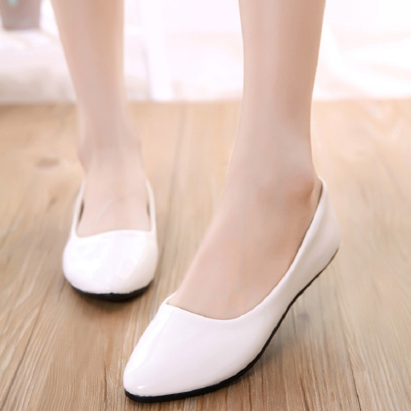 Women Flats Pointaed Toe Women's Shoes Moccasins Ballet Flats Patent Leather Shallow Shoes Loafers Slip On Casual Falt Shoes chic glitter shoes women loafers black silver lace up bowknot casual ballet flats slip on rhinestone sneakers sequins moccasins