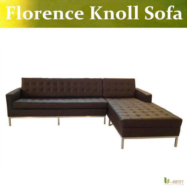 U-BEST Design Corner Sofa Inspired by Florence Knoll - Left Angle,Imitation Leather or real leather,Modern Living Room sofa цена и фото