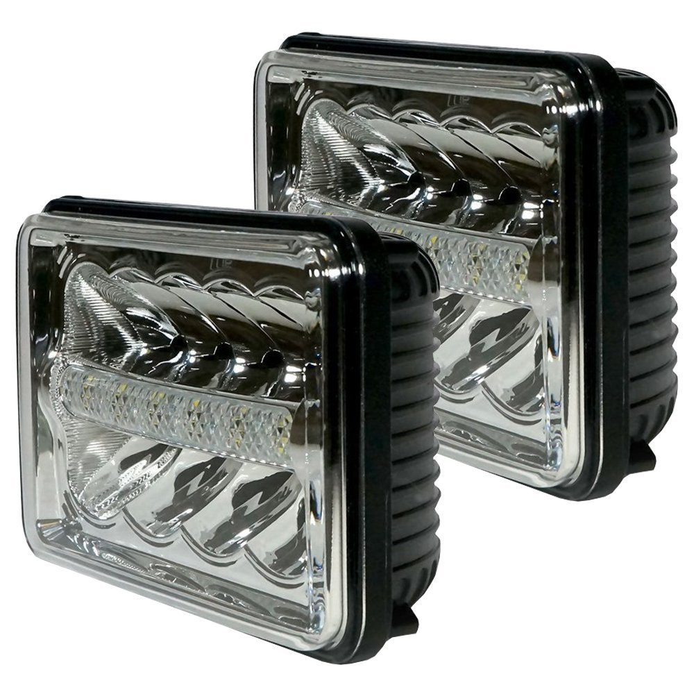 4x6 LED Truck Daymaker Headlights Replacement with DRL 6x4inch LED Truck Headlamp with P ...