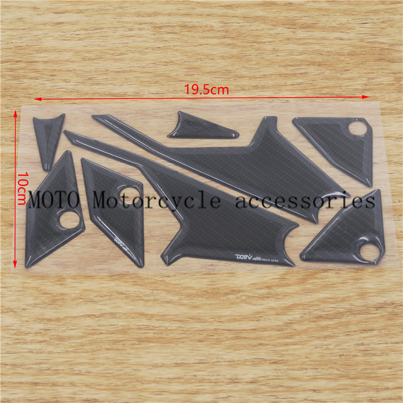 Carbon Fiber Fuel Gas Cap Pad Motorcycle Sticker Decal For Yamaha YZF R1 R6 R6S FZ1 FZ400 FZS600 VJ700 FJR FZ1 XJ6 TDM 900 R6S