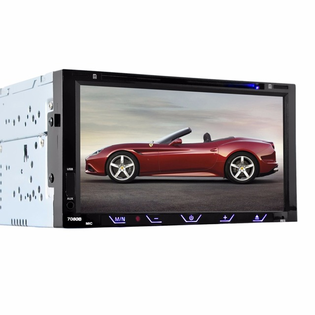 HEVXM 7080B 7 дюймовый автомобильный DVD плеер FM Радио BT DVD плеер обратный приоритет многофункциональный автомобильный DVD плеер