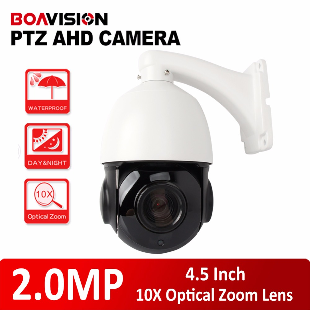 4.5 inch 1080P AHD PTZ Camera Dome 2MP 10X Optical Zoom IR 50M Security CCTV AHD Camera Outdoor Weatherproof (30X Zoom Optional) ccdcam 4in1 ahd cvi tvi cvbs 2mp bullet cctv ptz camera 1080p 4x 10x optical zoom outdoor weatherproof night vision ir 30m