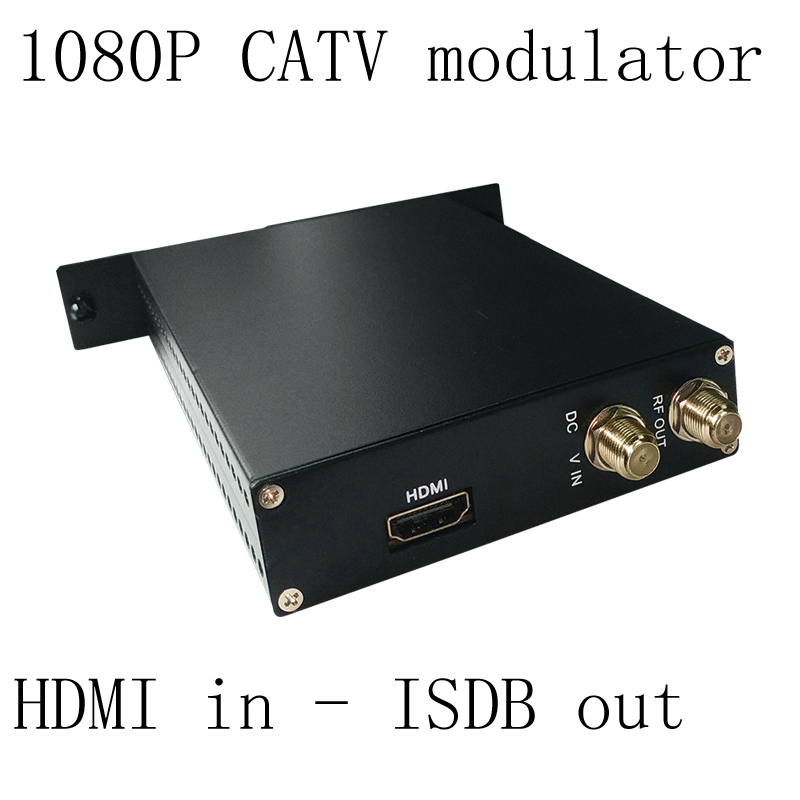 1080P AV HDMI to ISDB encoder modulator Digital TV Headend QAM RF Modulator ISDB digital 1080P modulator 1pcs lot factory price new high quality tv system av rf audio video converter av to rf modulator for russian market