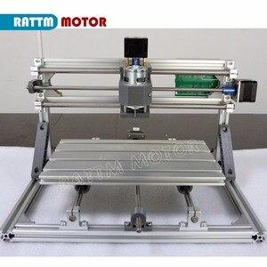 Image 3 - De ship mini máquina de gravação a laser, cnc 3018 gravador laser diy hobby, ferramentas de corte er11 grbl para madeira, pcb pvc mini roteador cnc, mini roteador cnc