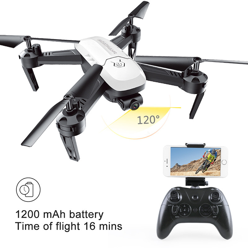 App/Controller Control Drone toy 2.4G 4CH 16Mins RC Helicopter T6 Wifi FPV RC Drone FPV Quadcopter 3D Roll Headless Mode RC Toy ...