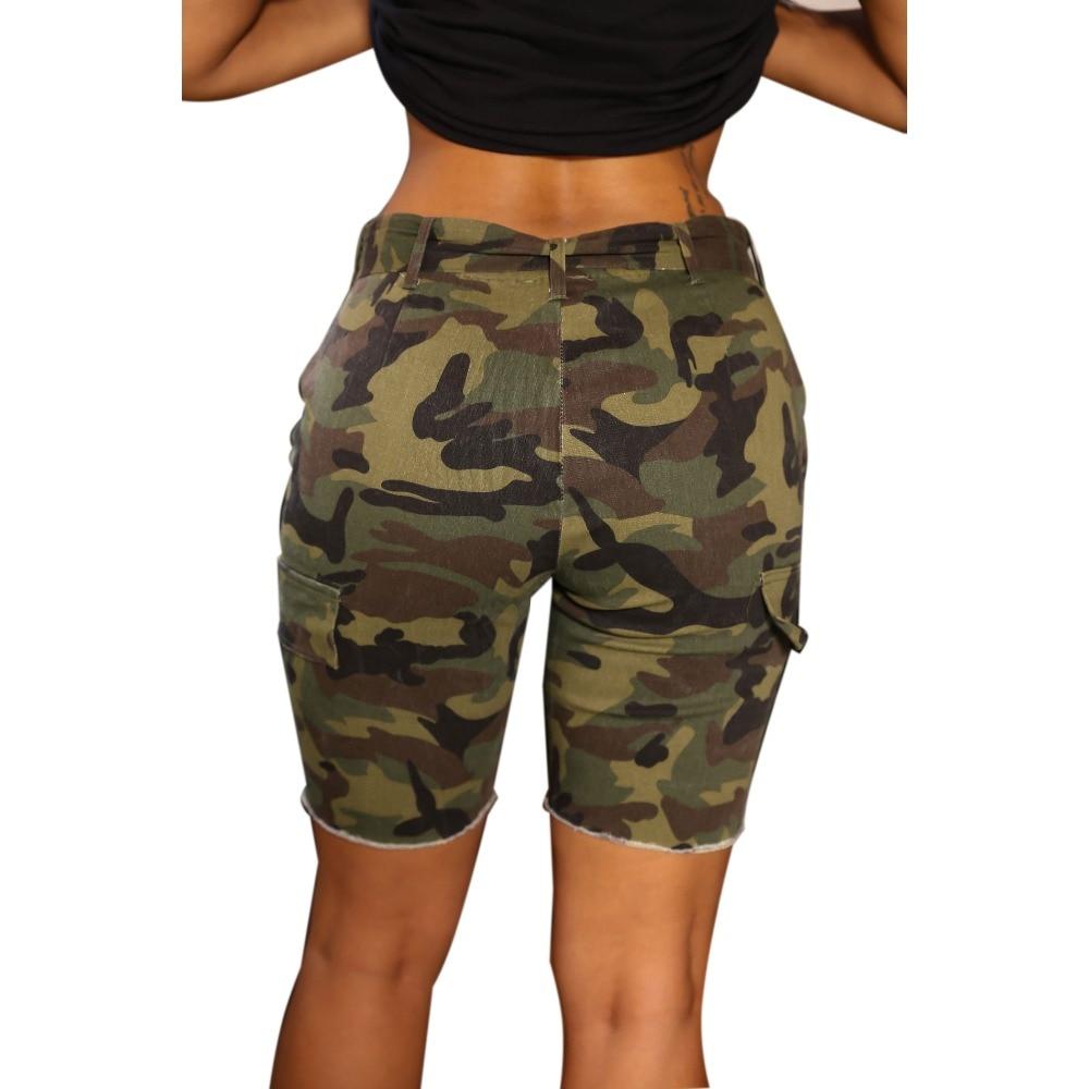 4299be31cc Europeos y americanos del viento del verano azul alto cintura denim shorts  mujeres worn loose burr