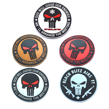 Punisher GOD WILL JUDGE OUR ENEMIES PVC tactical military patches badges for clothes clothing ph d nivischi n edwards our pain god s purpose