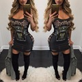 New design Sleeveless hollow out hole women Casual Sexy Digital Print Shirt Mini Dress