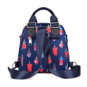 Image 3 - Donne Zaino in Nylon Impermeabile Femminile Sacchetto di Spalla Del Progettista Del Fumetto di Stampa Zaino Mini Casual Bagpack Sac a Main Borsa Della Ragazza
