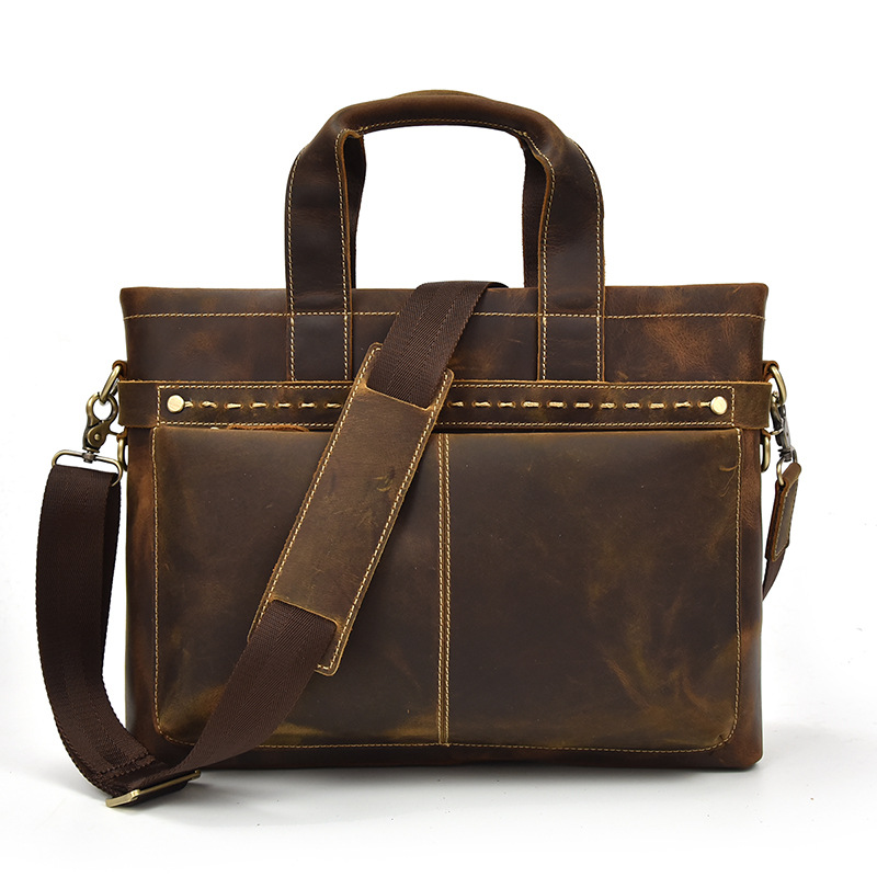 2018 Men Business Shoulder Leather Briefcase Messenger Bags 14inch Laptop Messenger Bag Men's Travel Crossbody Bags Handbags mva genuine leather men bag business briefcase messenger handbags men crossbody bags men s travel laptop bag shoulder tote bags
